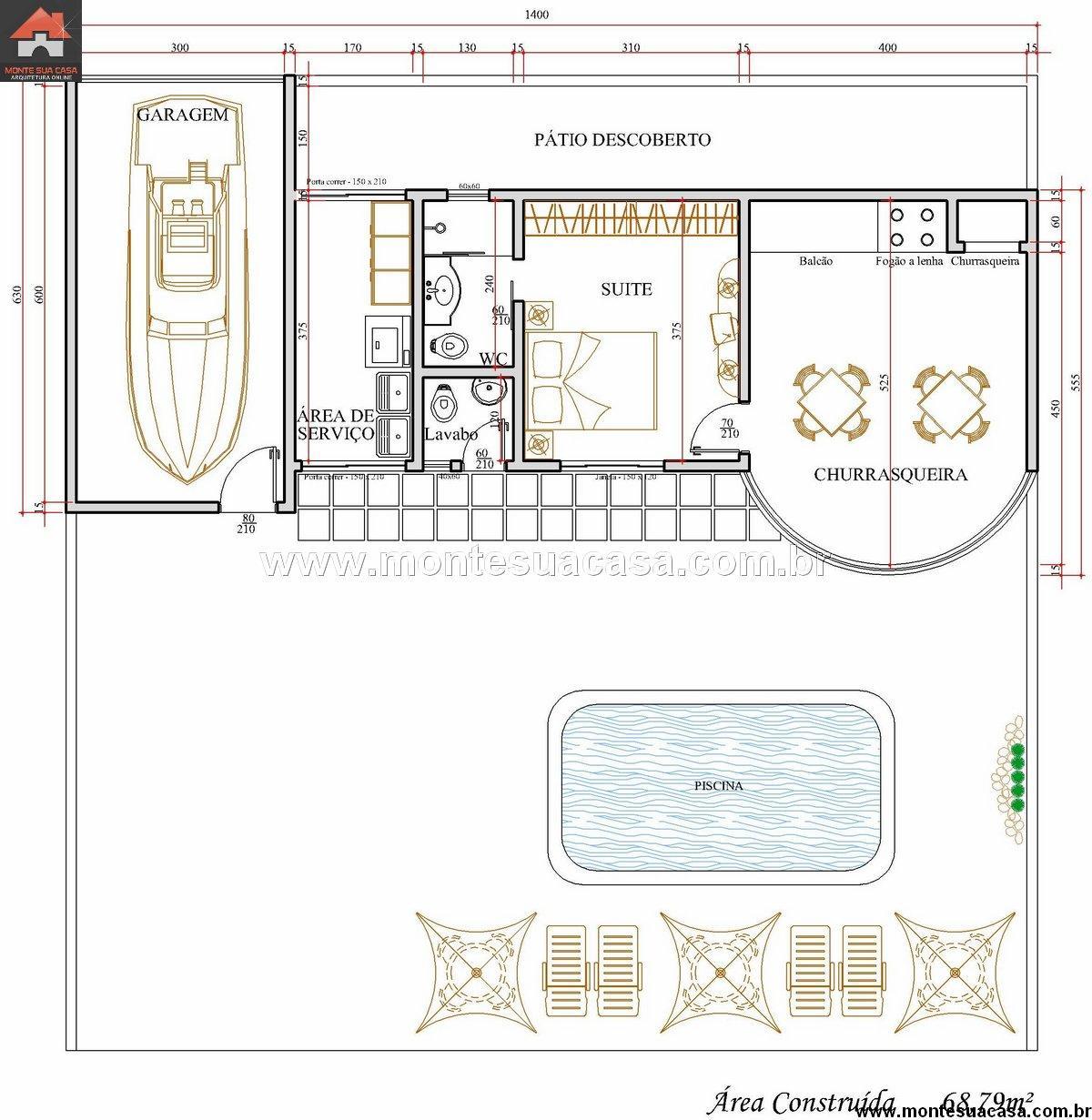 Casa 0 Quartos - 68.79m²