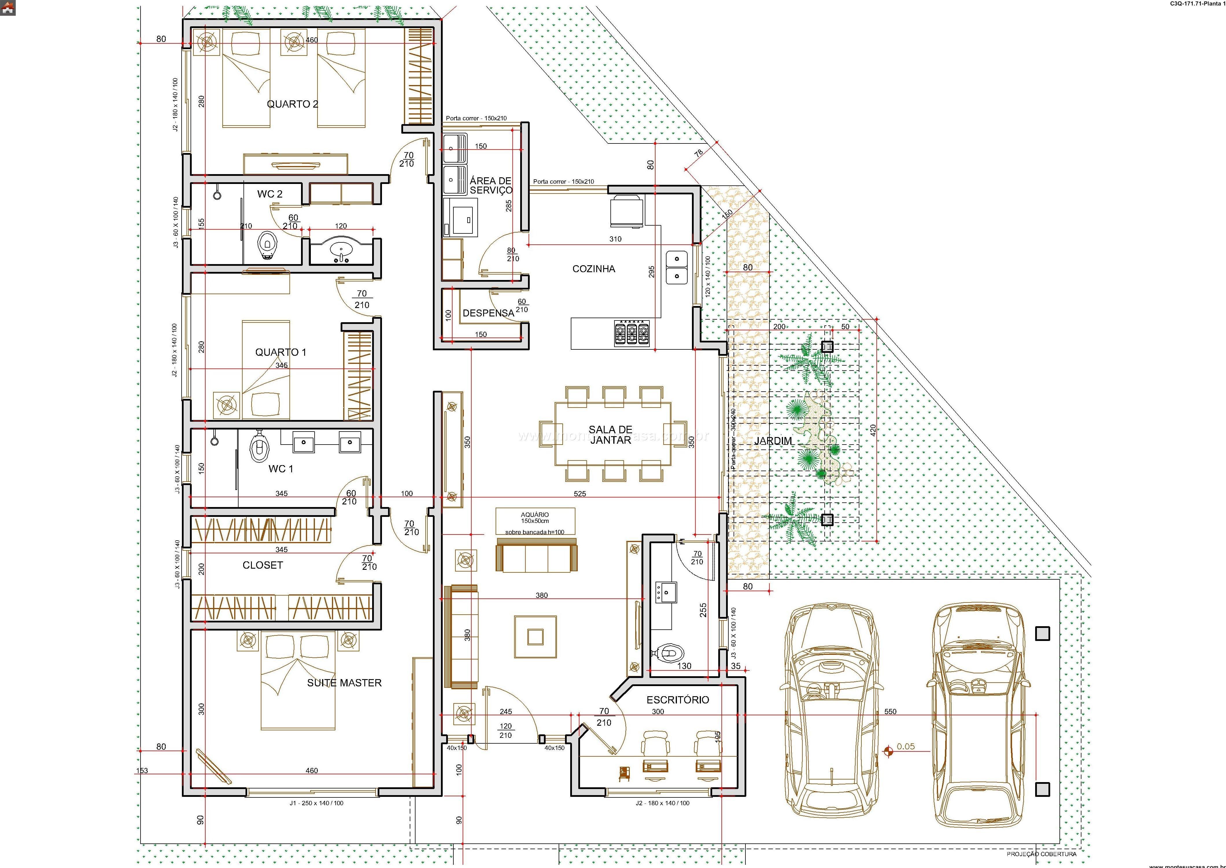 Casa 2 Quartos - 171.71m²
