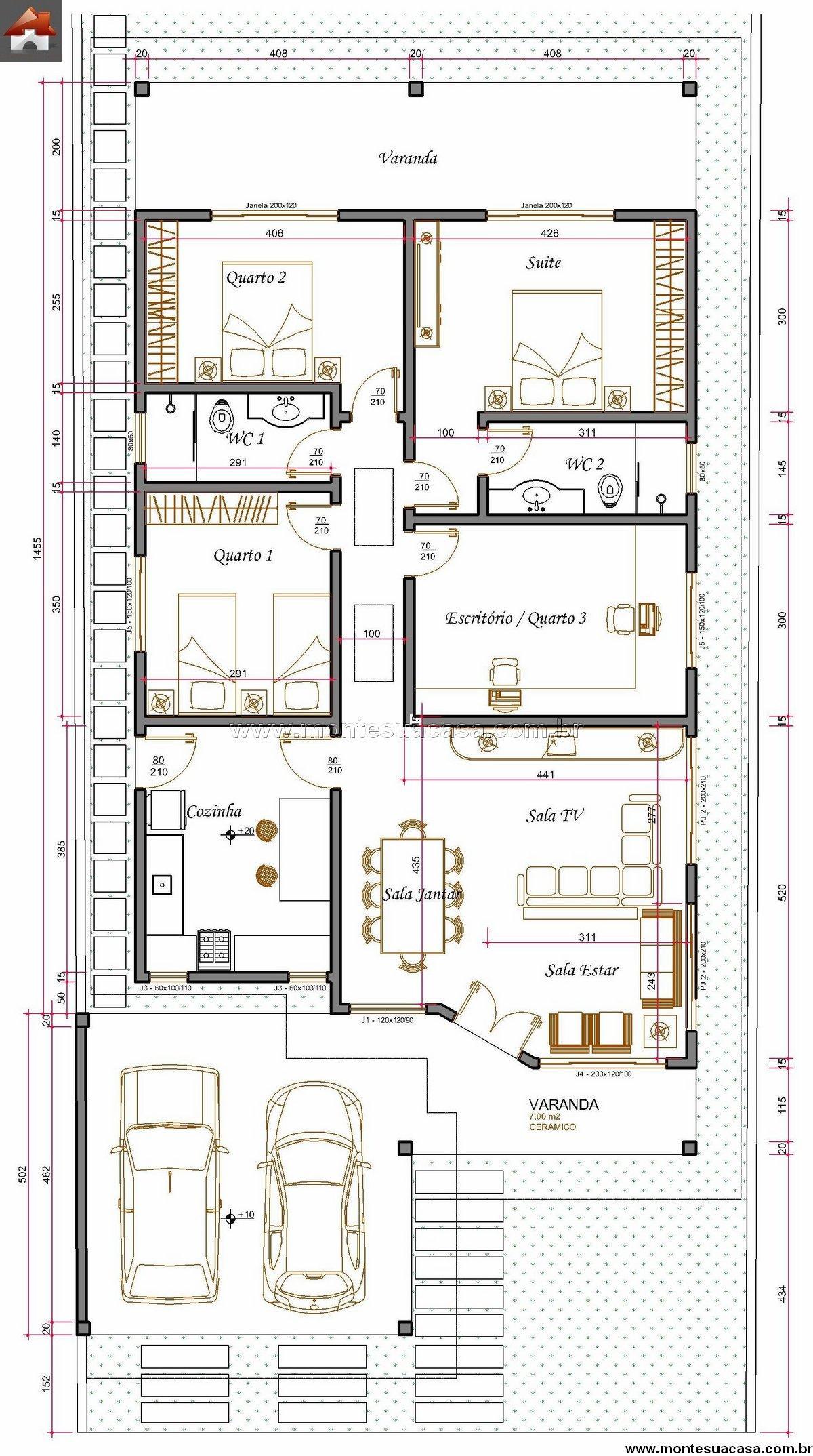 Casa 3 Quartos - 174.21m²