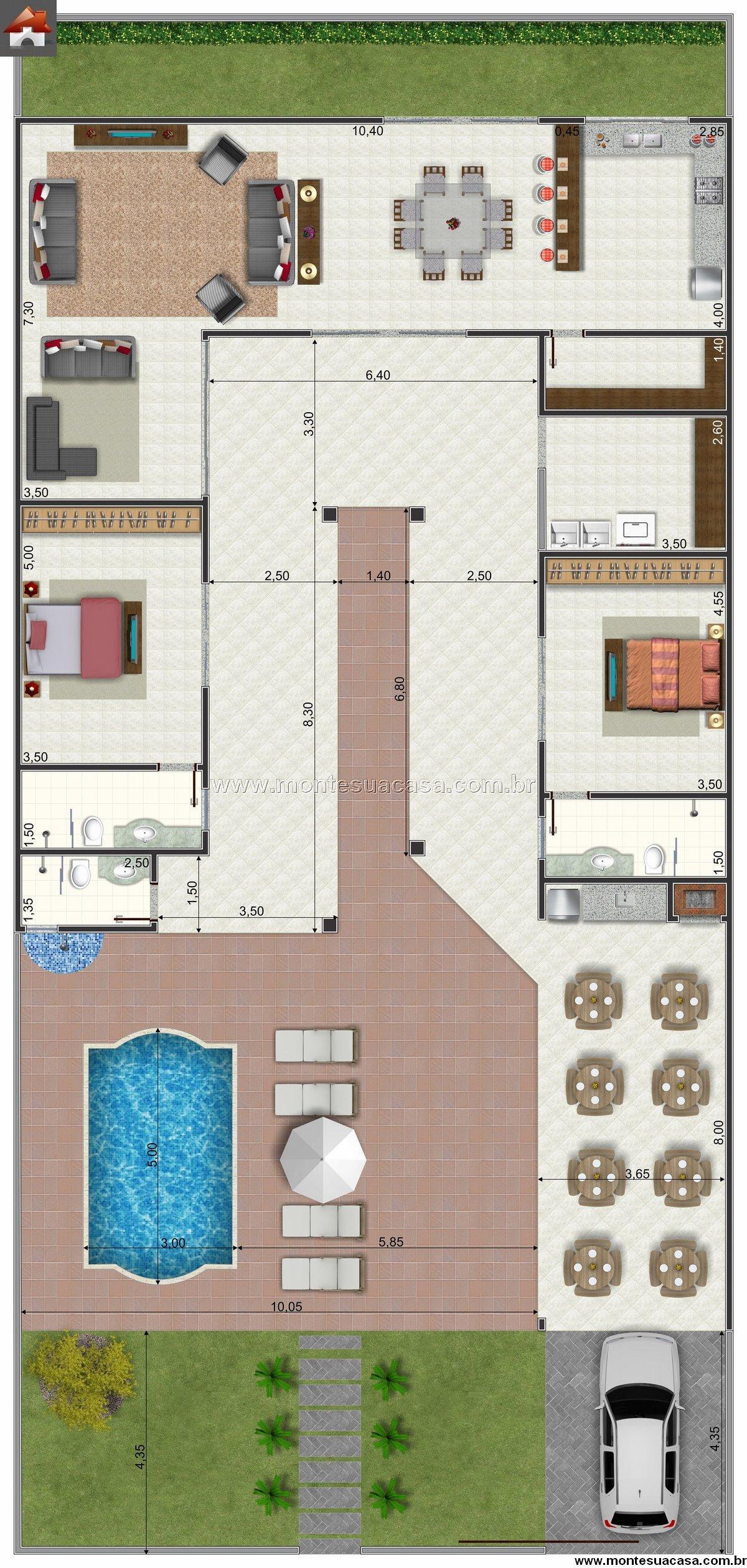 Casa 2 Quartos - 239.8m²
