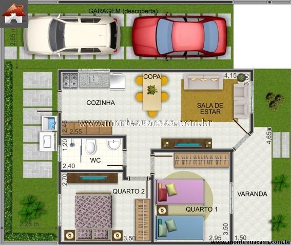 Casa 2 Quartos - 56.77m²