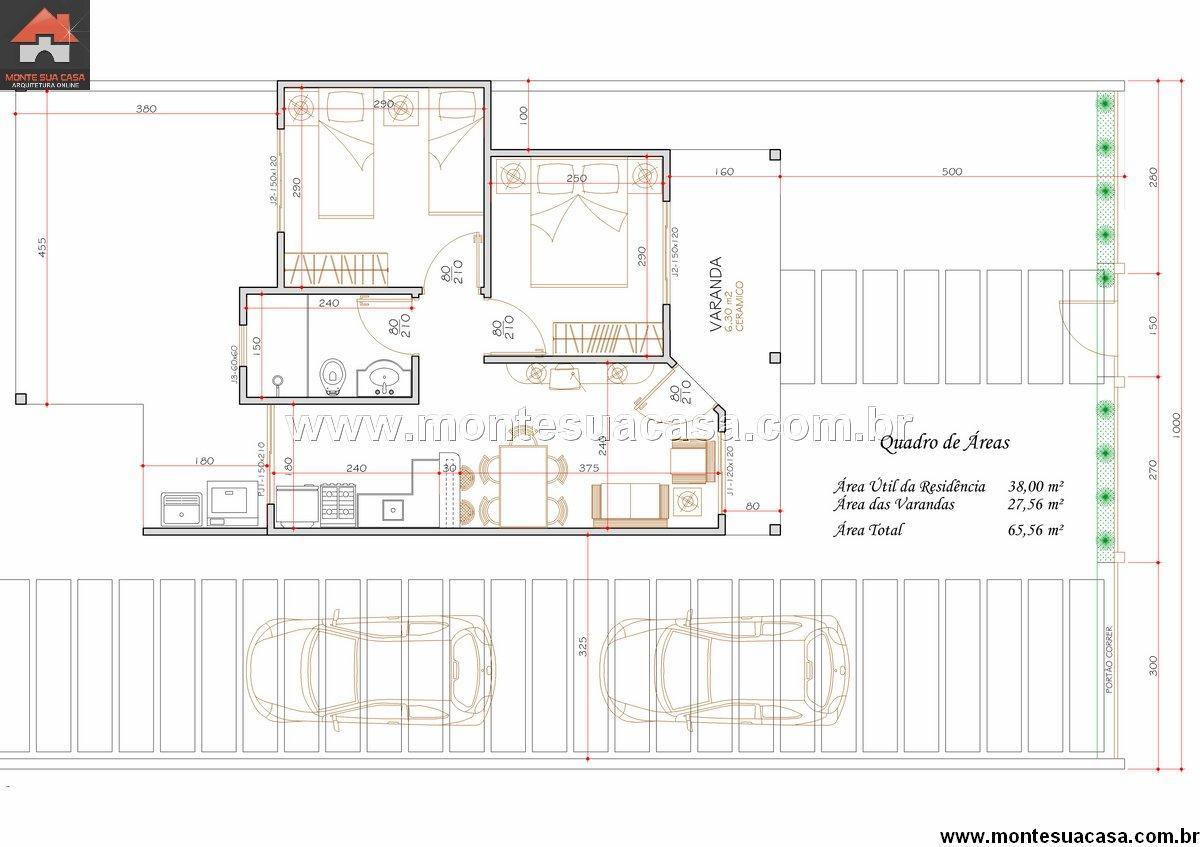 Casa 2 Quartos - 65.56m²