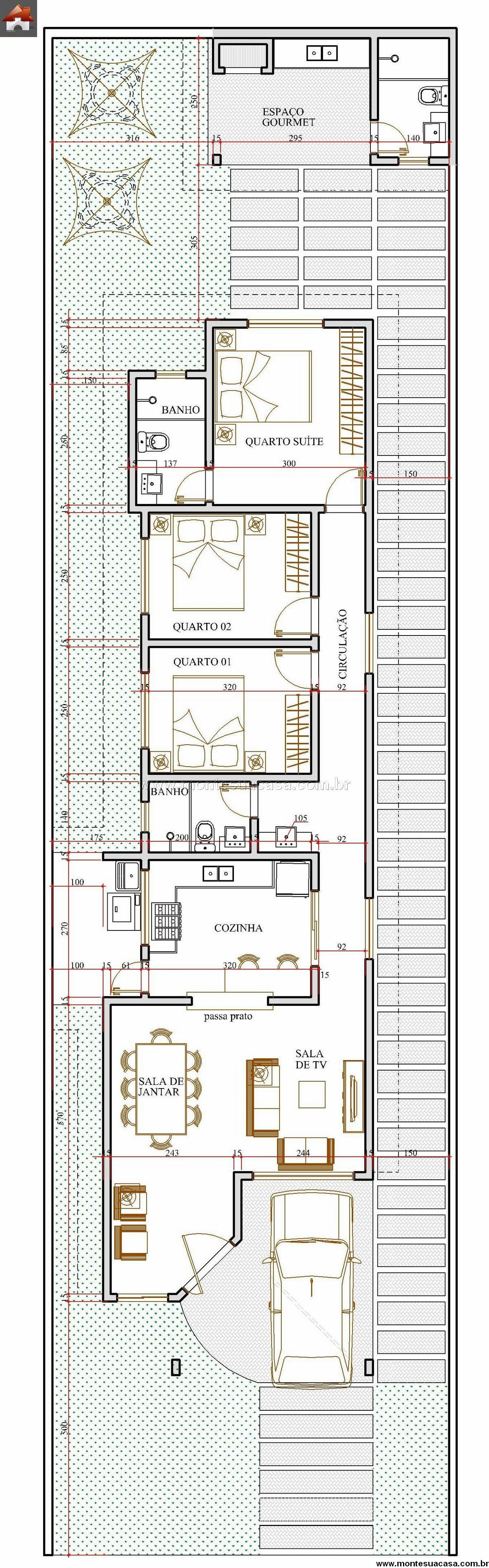 Casa 3 Quartos - 103.18m²