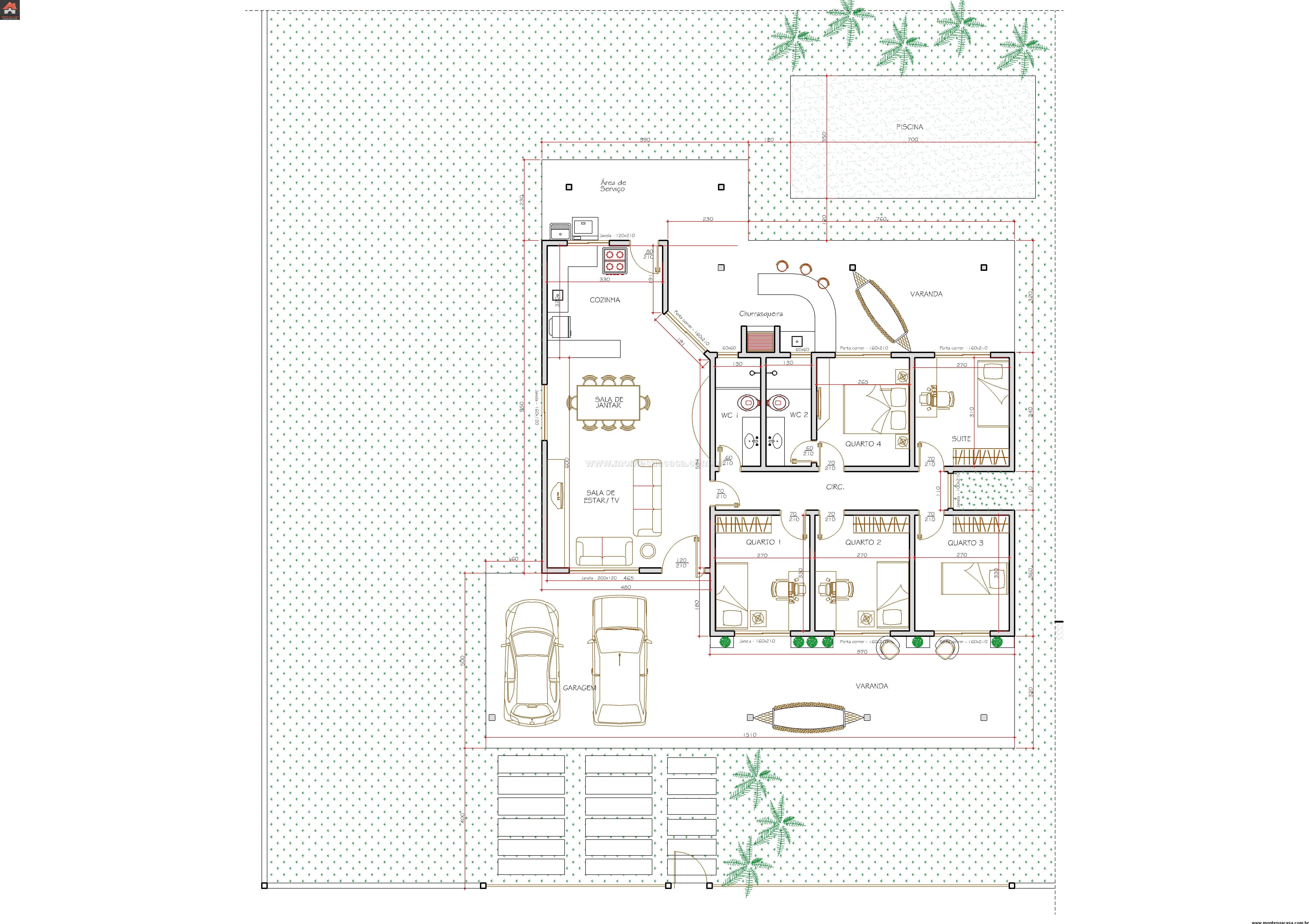 Casa 4 Quartos - 111.02m²