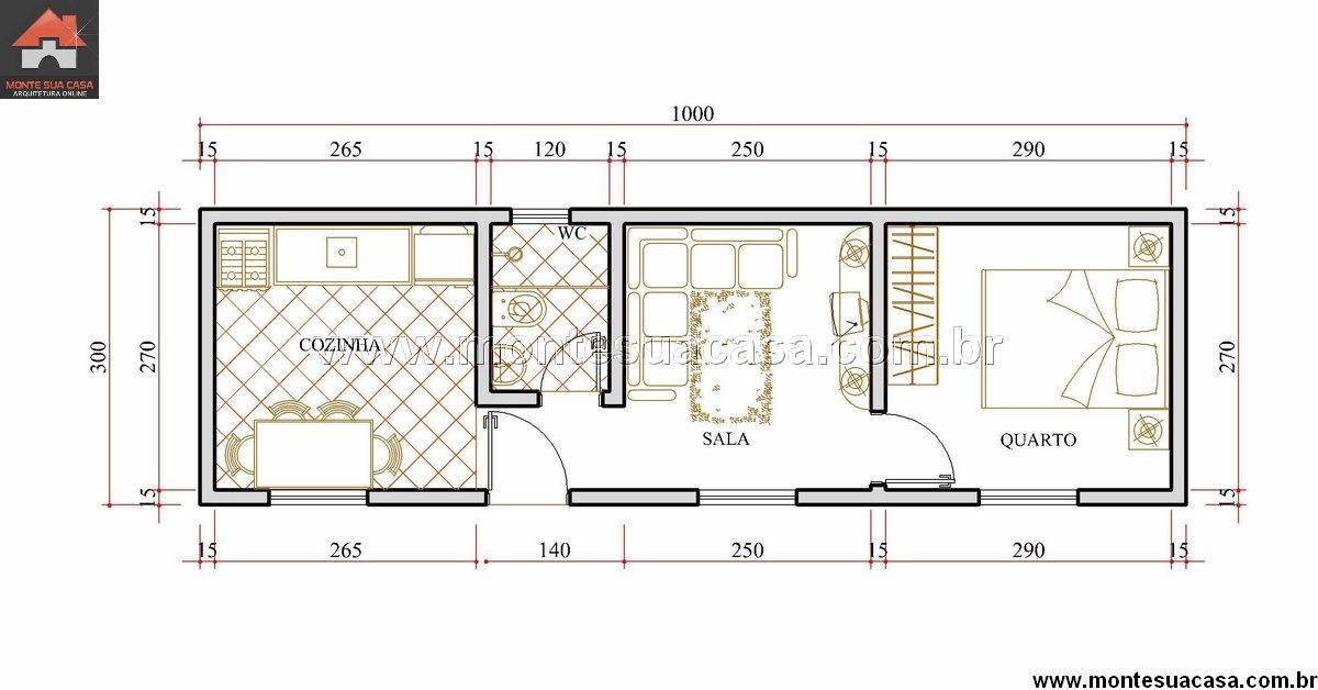 Casa 1 Quartos - 30m²