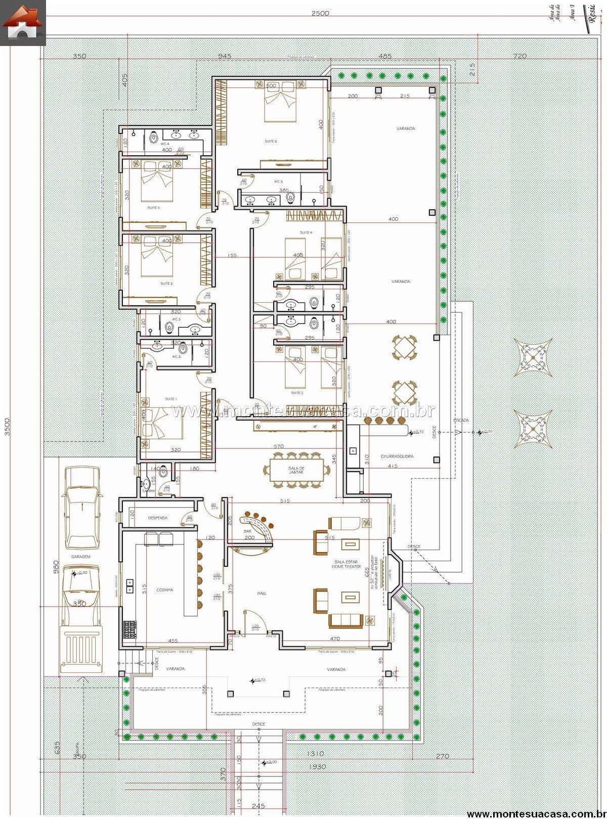 Casa 6 Quartos - 253.03m²