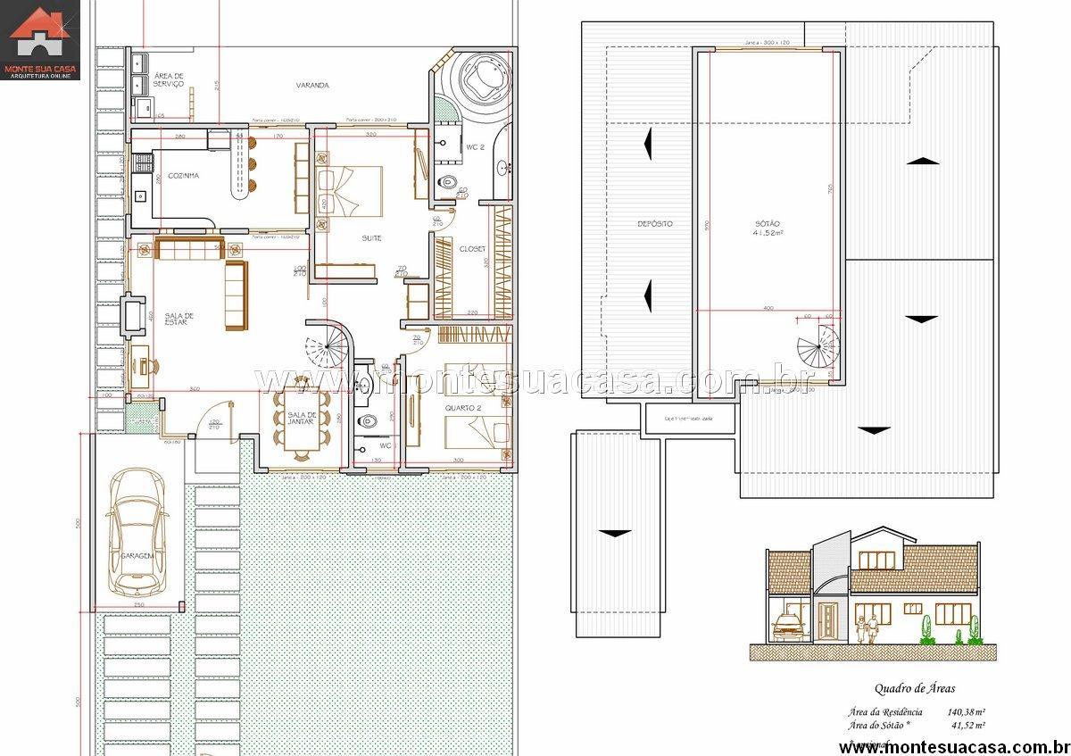 Casa 1 Quartos - 140.38m²