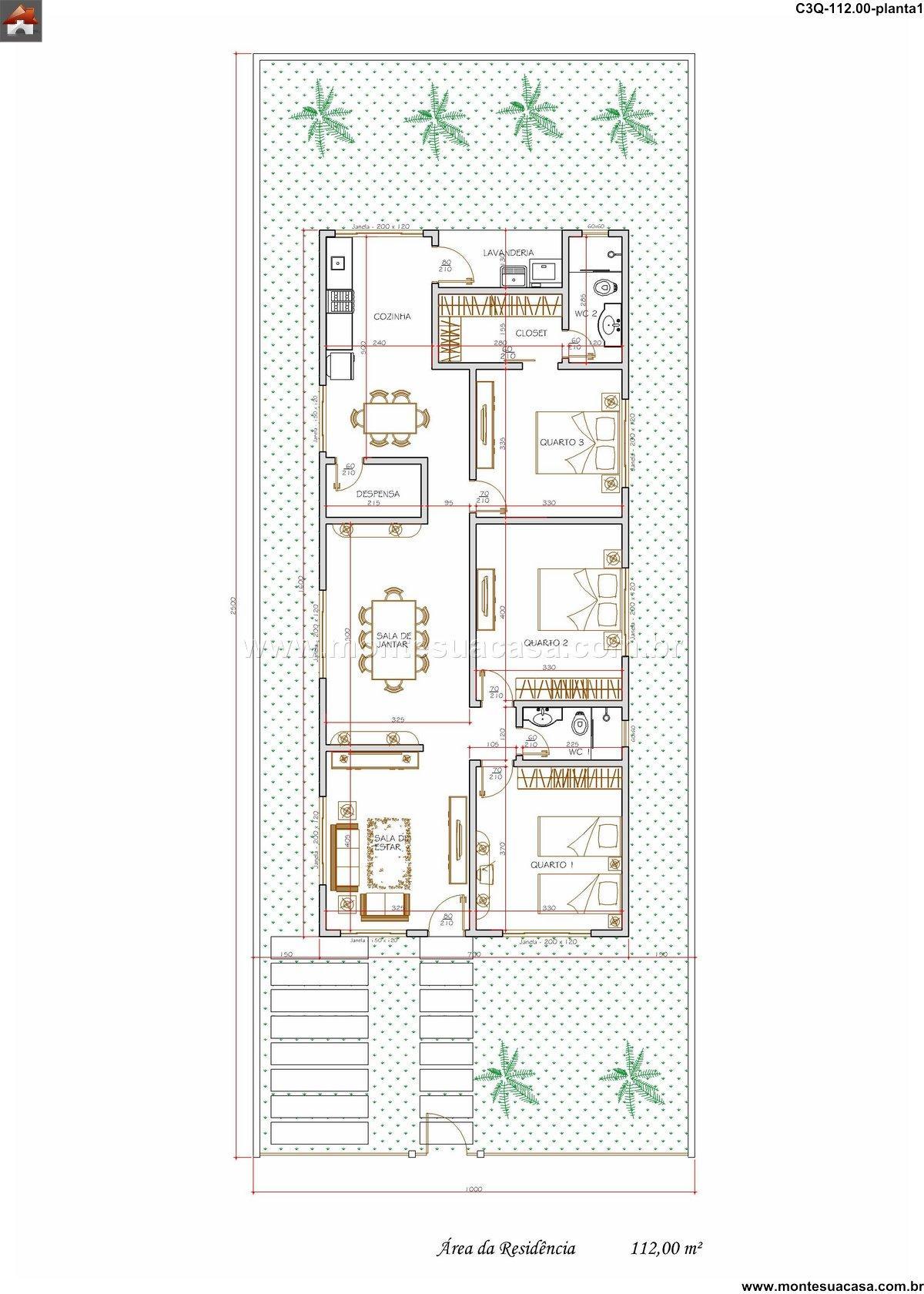 Casa 2 Quartos - 112m²