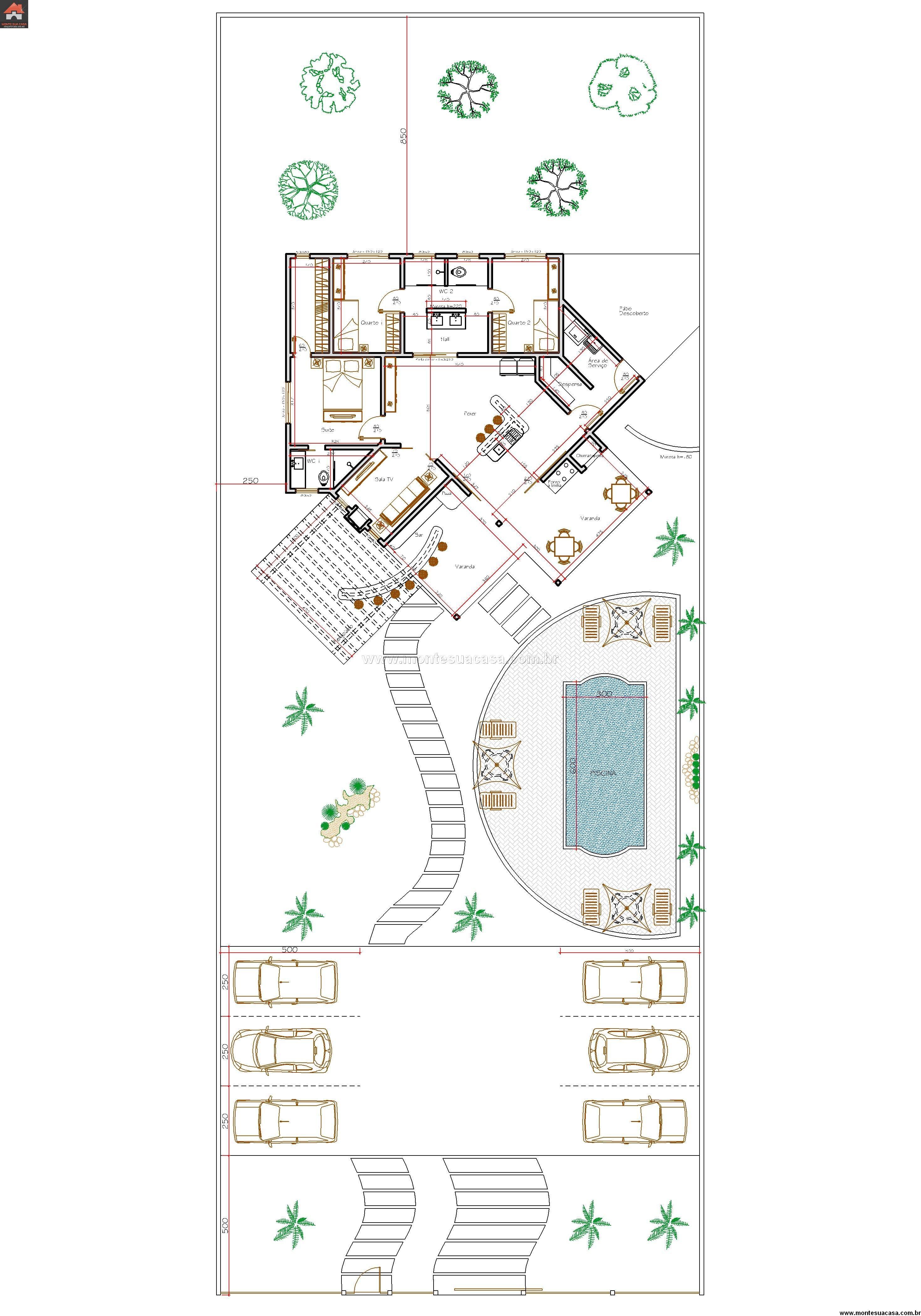 Casa 2 Quartos - 143.65m²