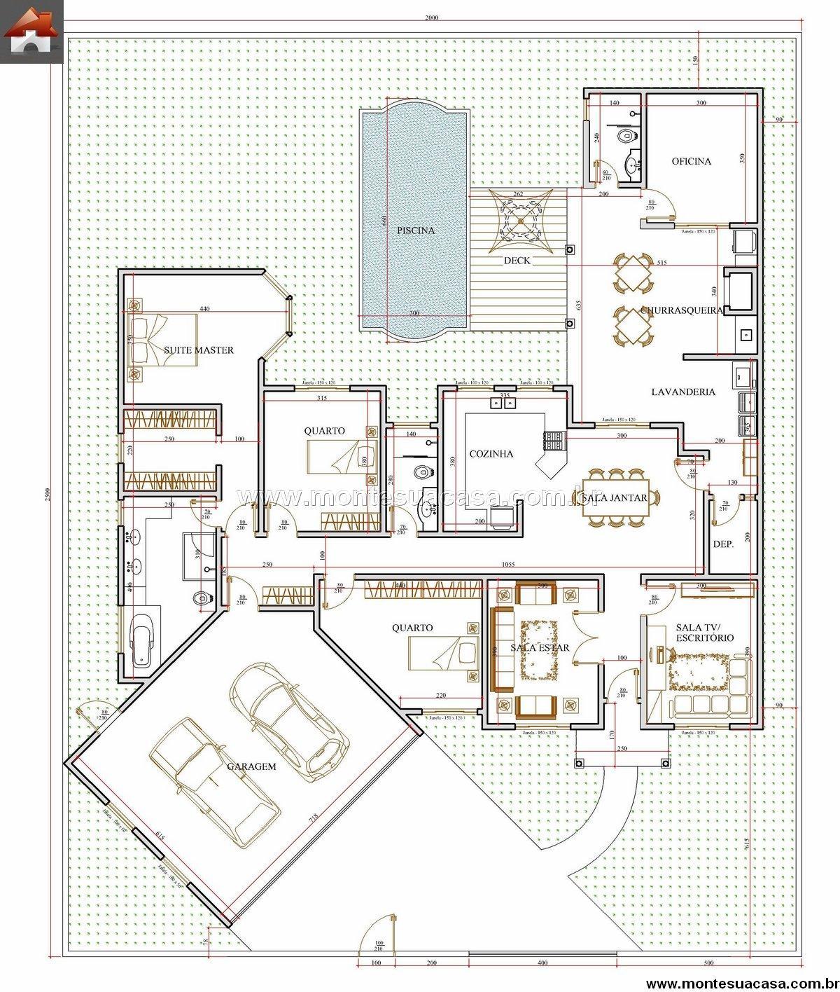 Casa 2 Quartos - 245.76m²
