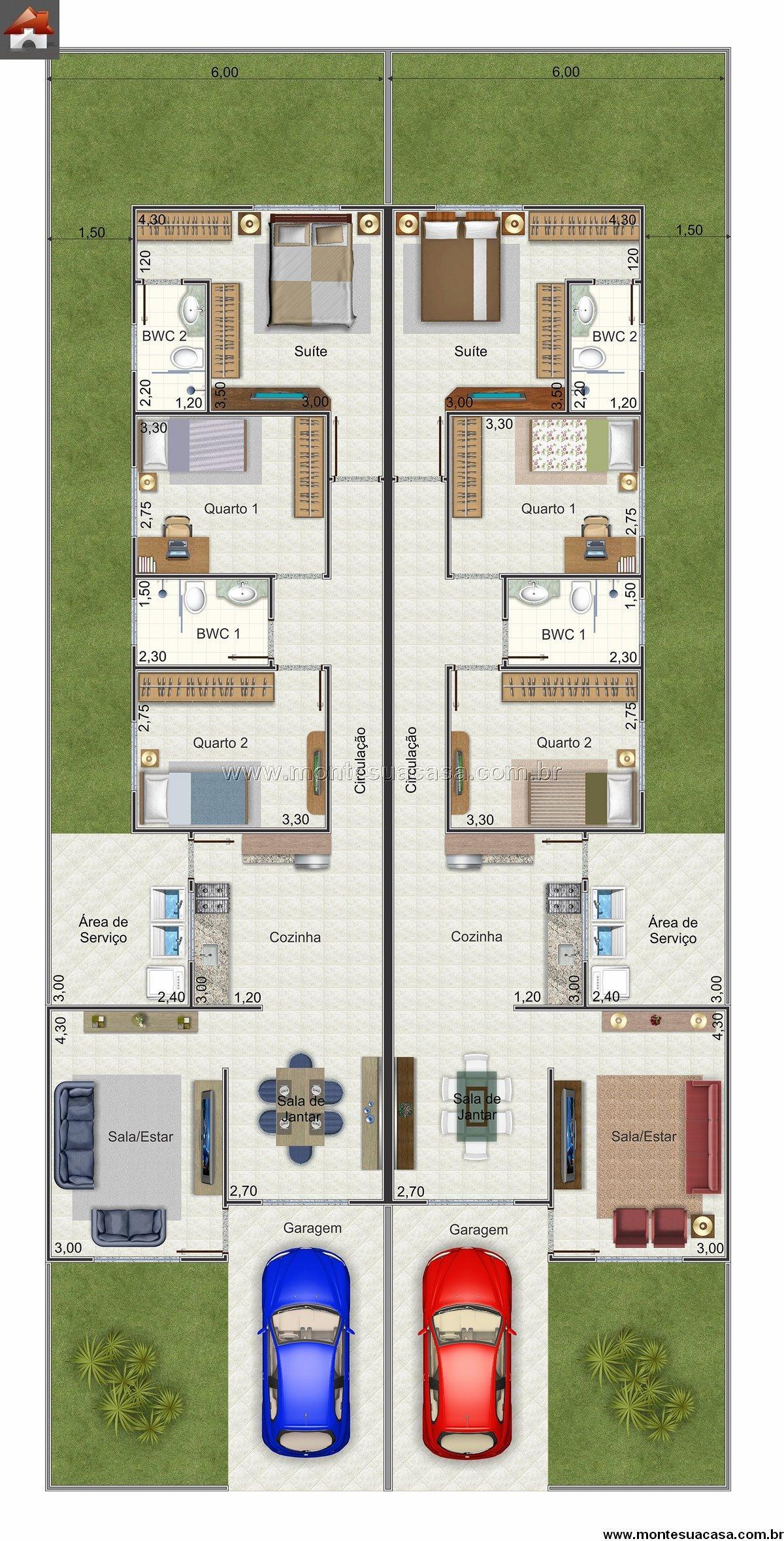 Casa 2 Quartos - 84.2m²