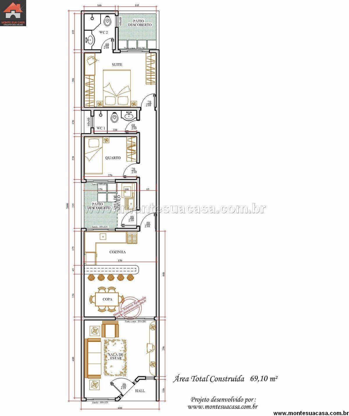 Casa 1 Quartos - 69.1m²
