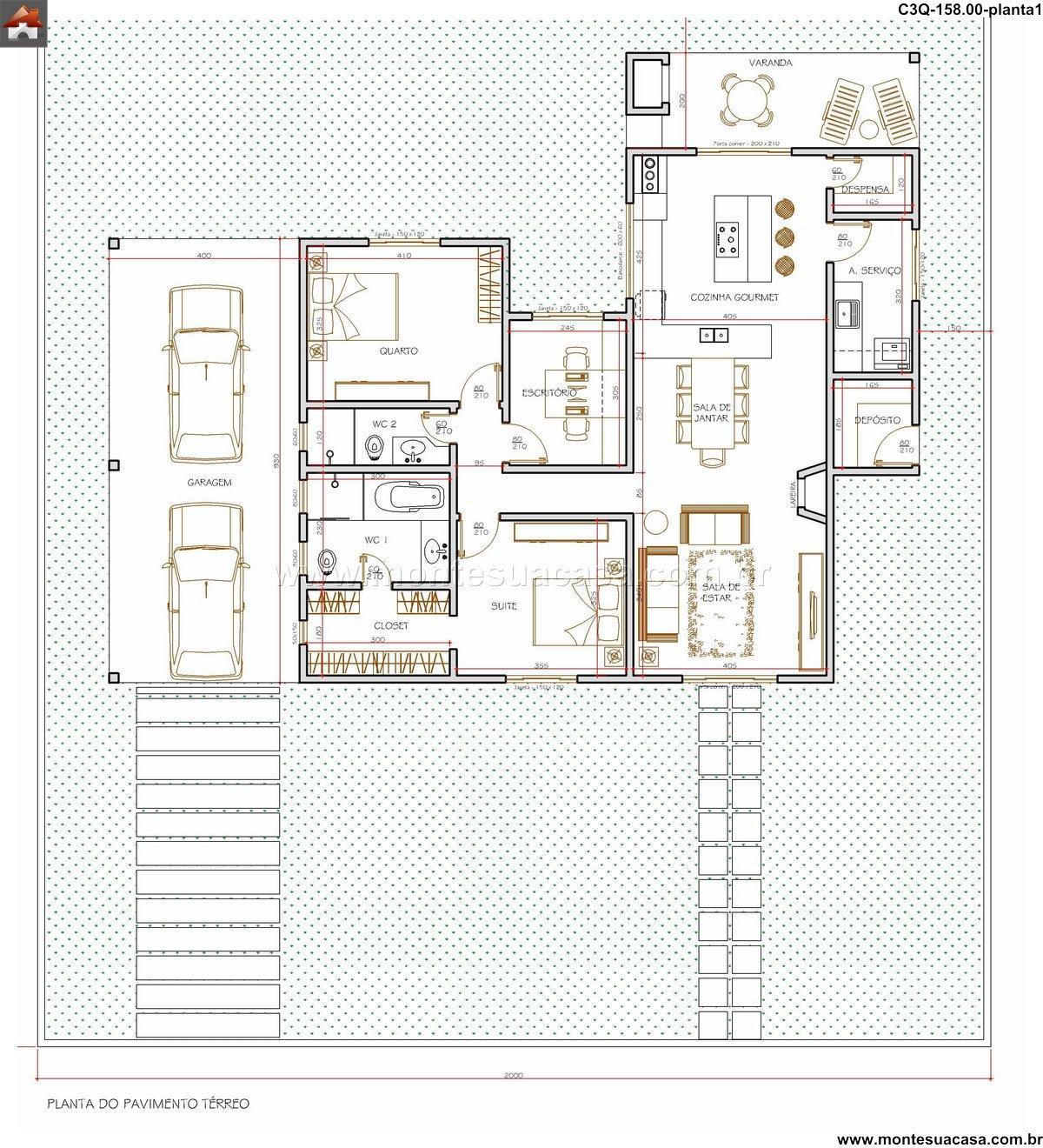 Casa 2 Quartos - 158m²