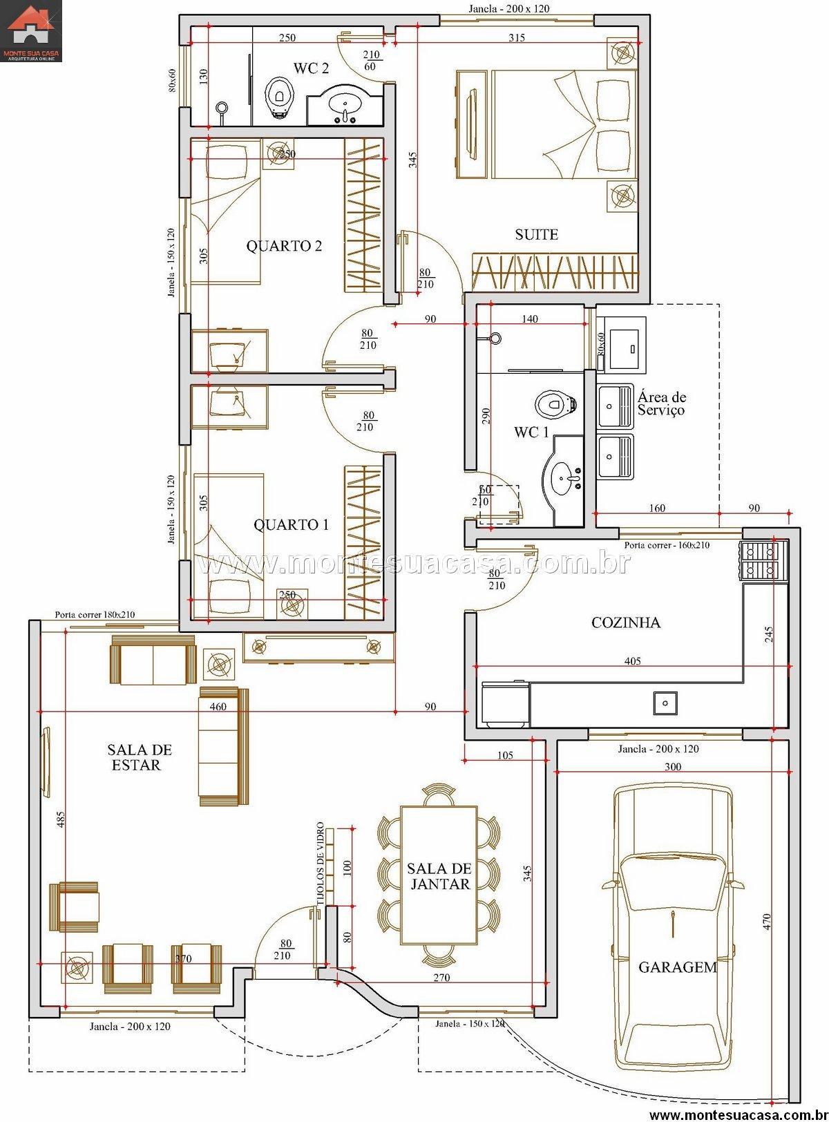 Casa 2 Quartos - 101.72m²