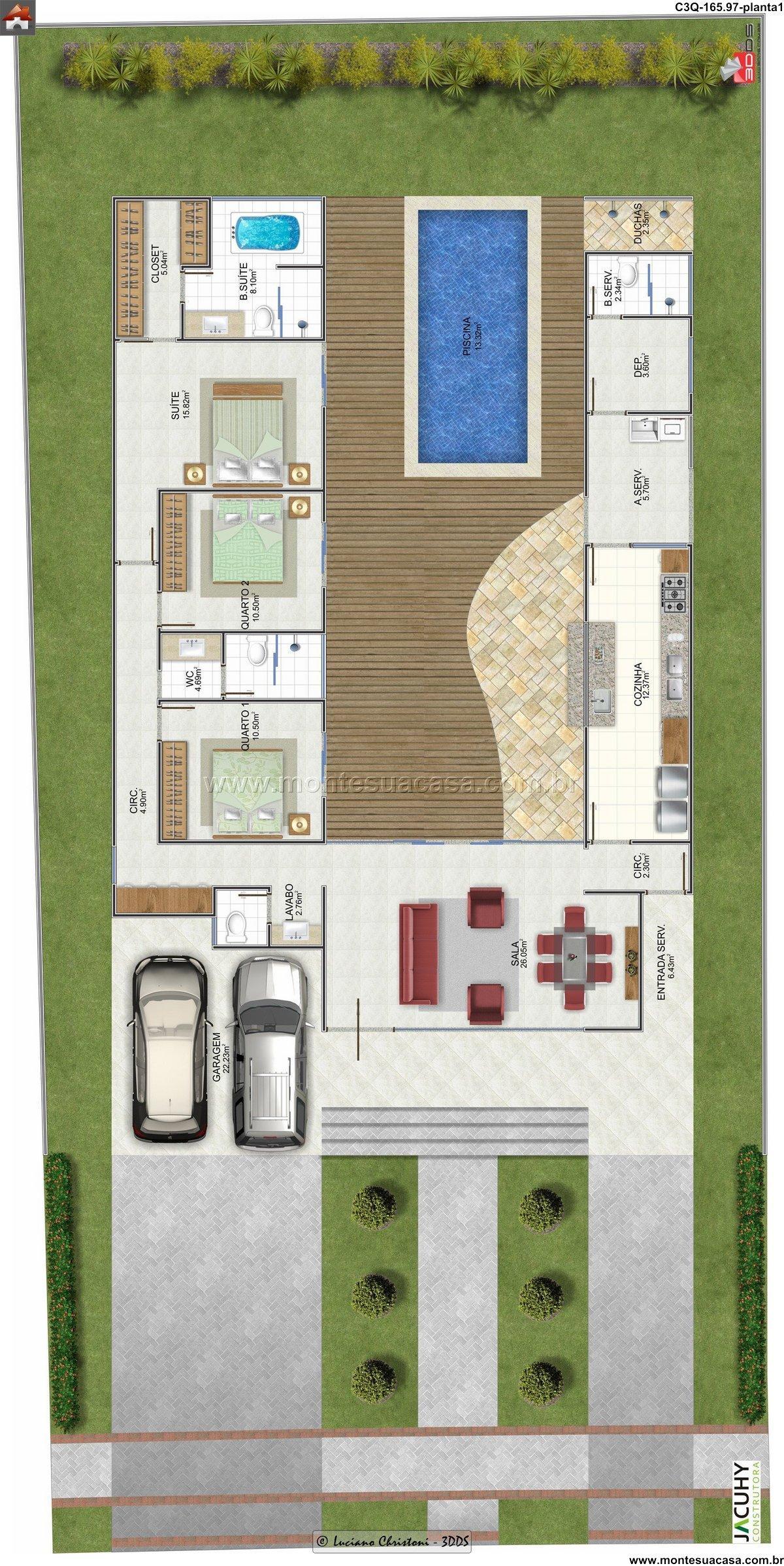 Casa 2 Quartos - 165.97m²