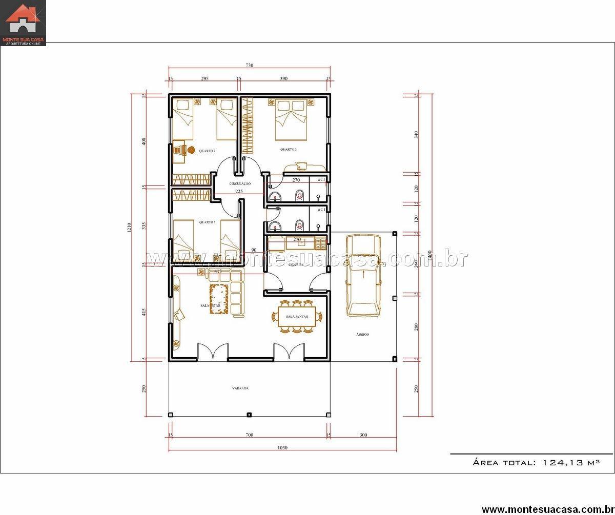 Casa 2 Quartos - 124.13m²