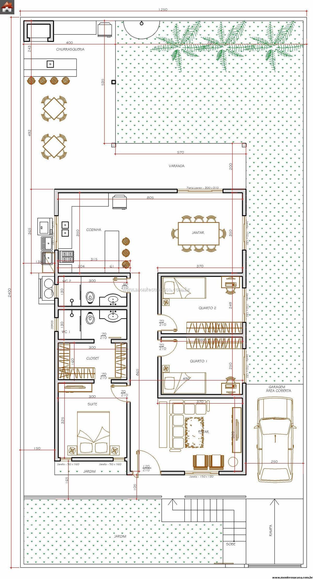 Casa 2 Quartos - 114.56m²