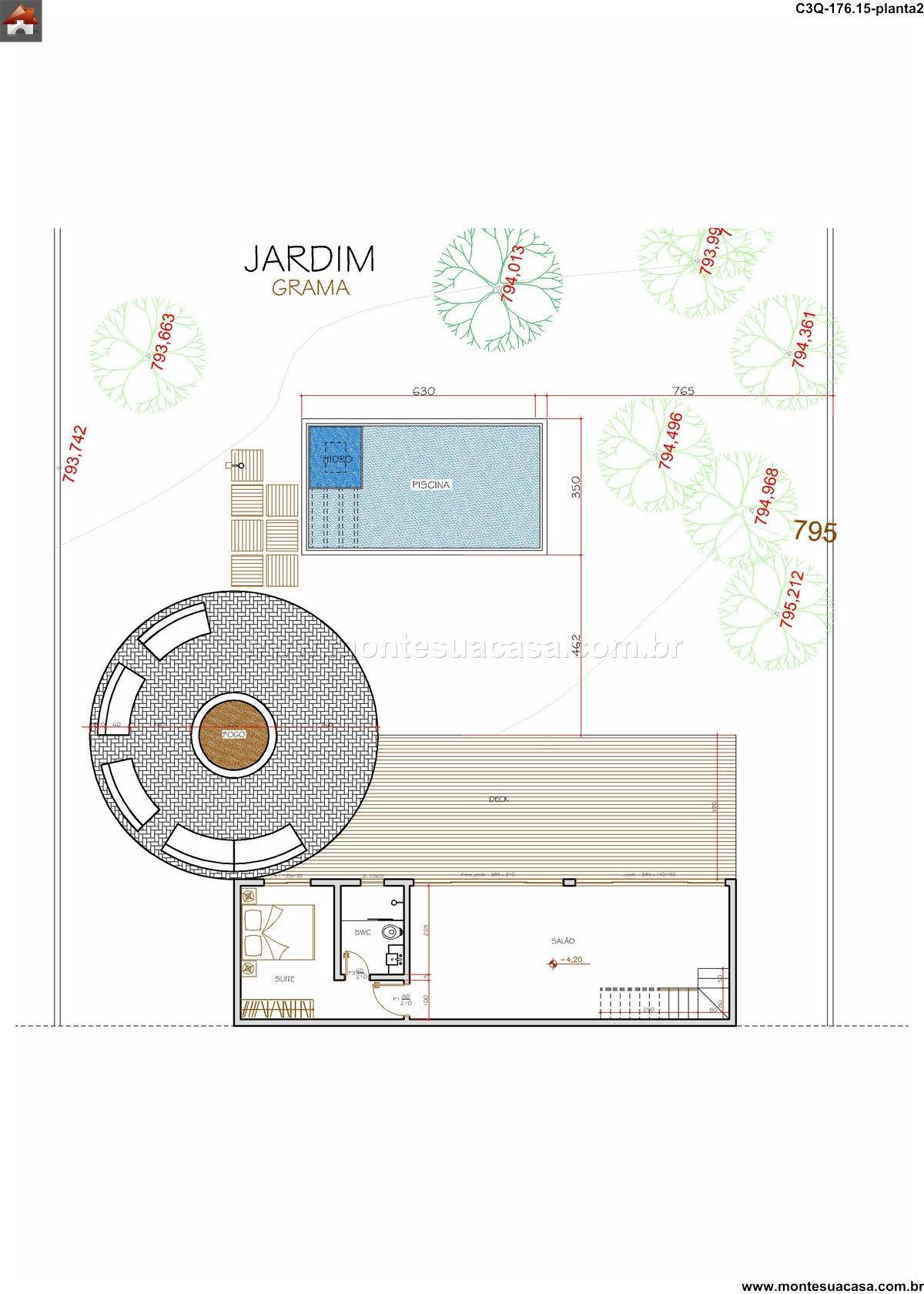 Casa 3 Quartos  –  176.15m²