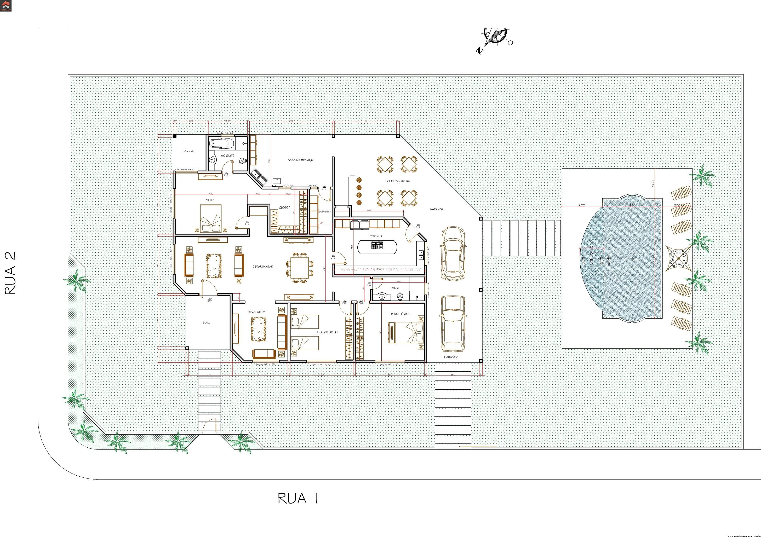 Casa 2 Quartos - 290.87m²