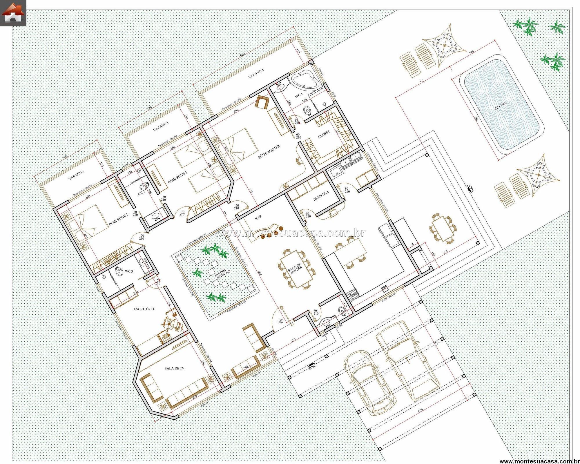 Casa 4 Quartos - 264.49m²