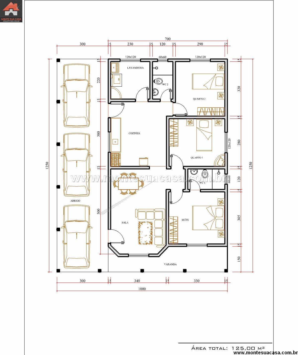 Casa 2 Quartos - 125m²