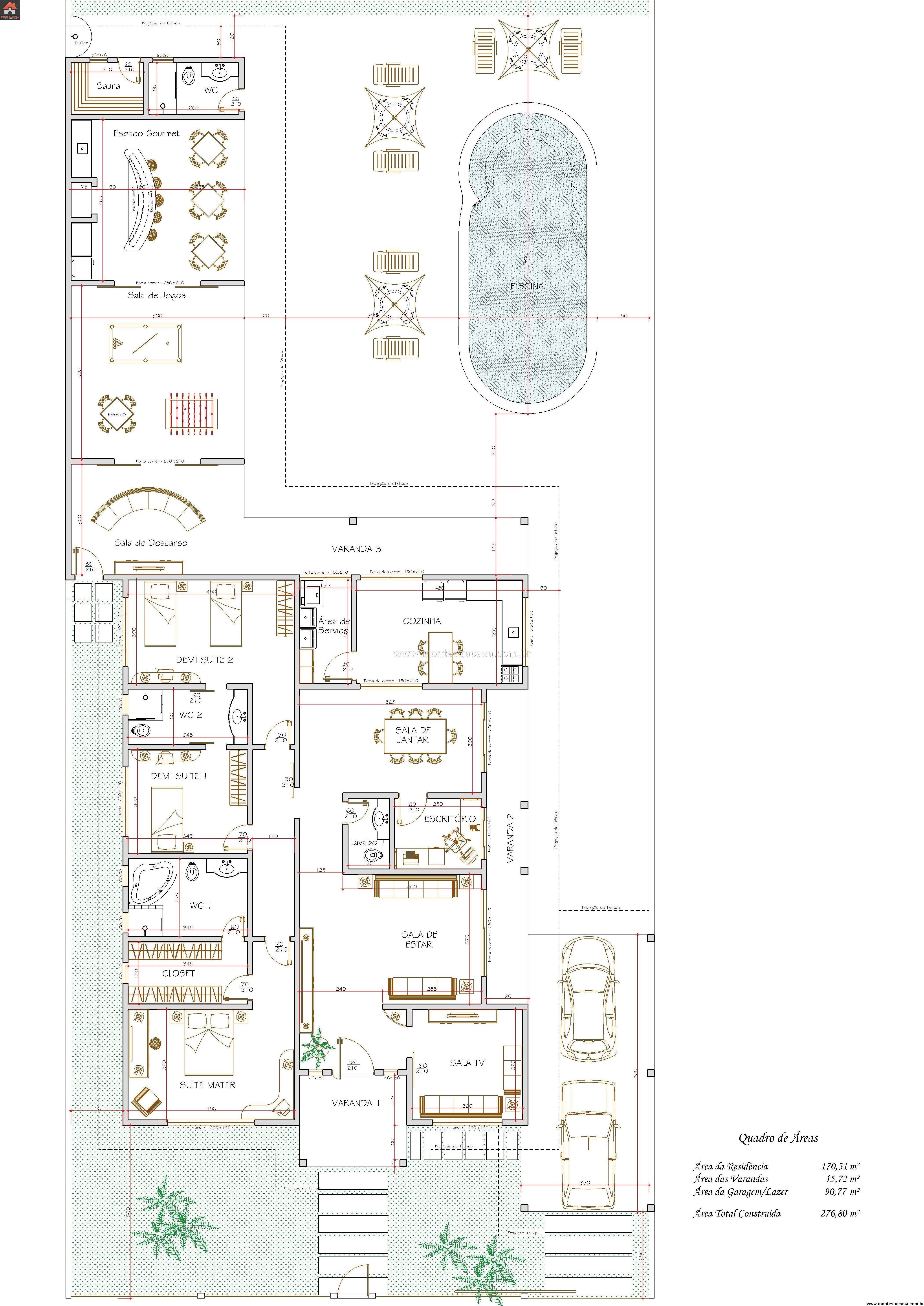 Casa 2 Quartos - 276.8m²