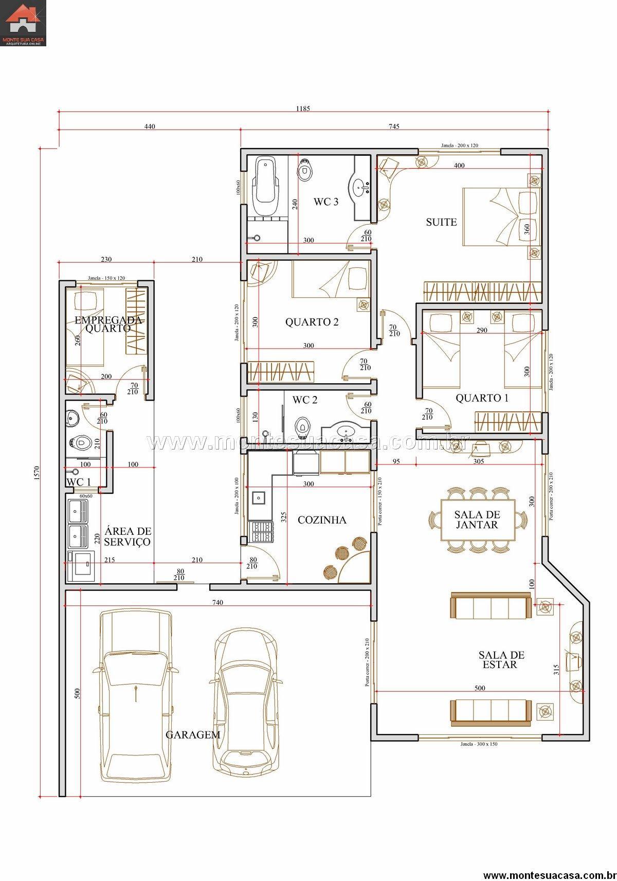 Casa 2 Quartos - 154.59m²