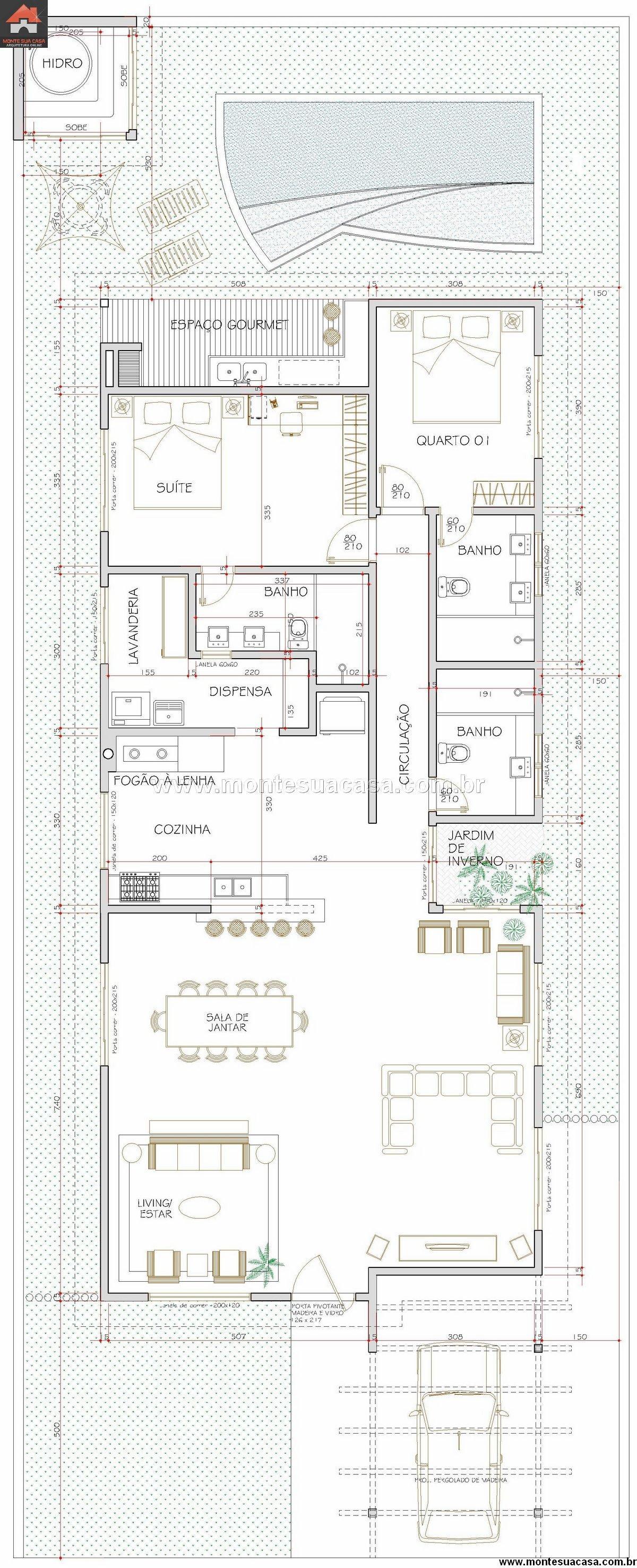 Casa 1 Quartos - 171.84m²
