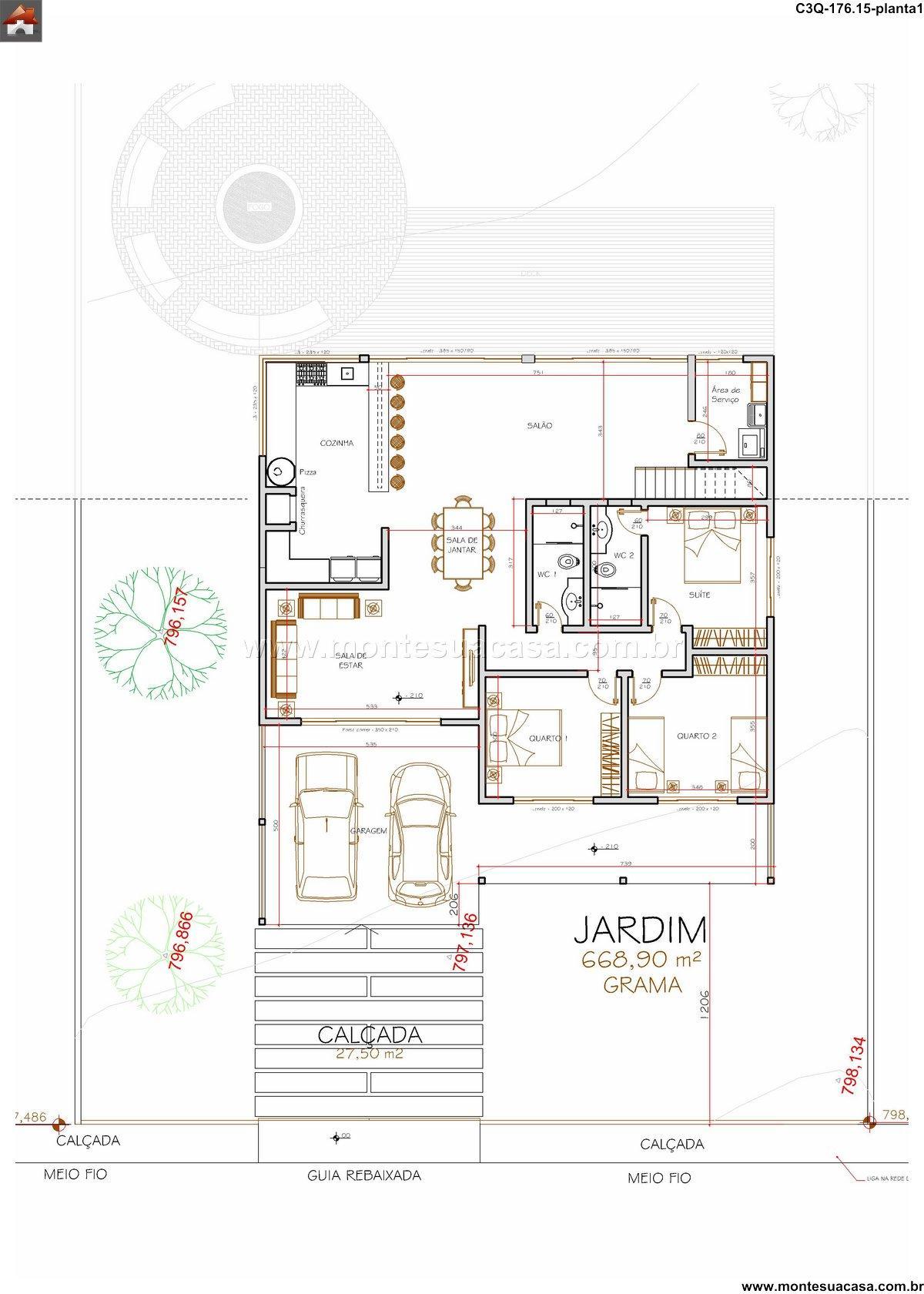 Casa 2 Quartos - 176.15m²