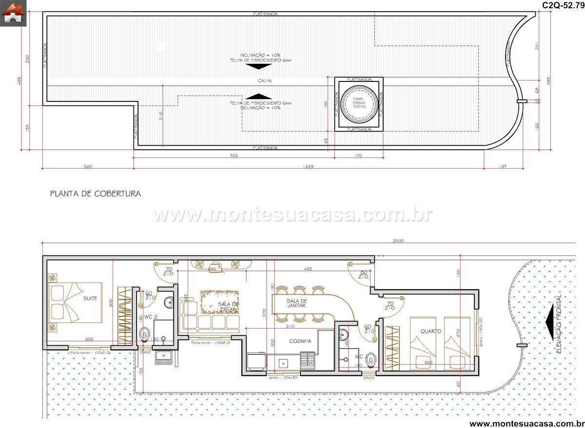 Casa 1 Quartos - 52.79m²
