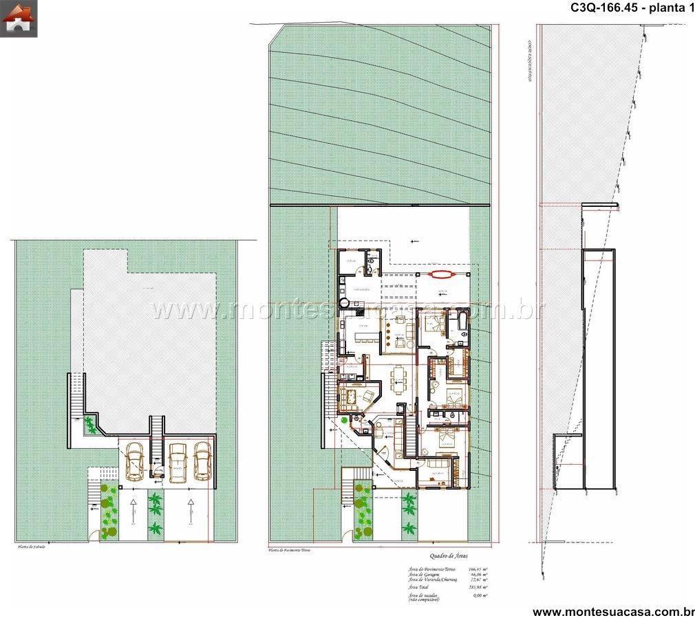 Casa 2 Quartos - 166.45m²