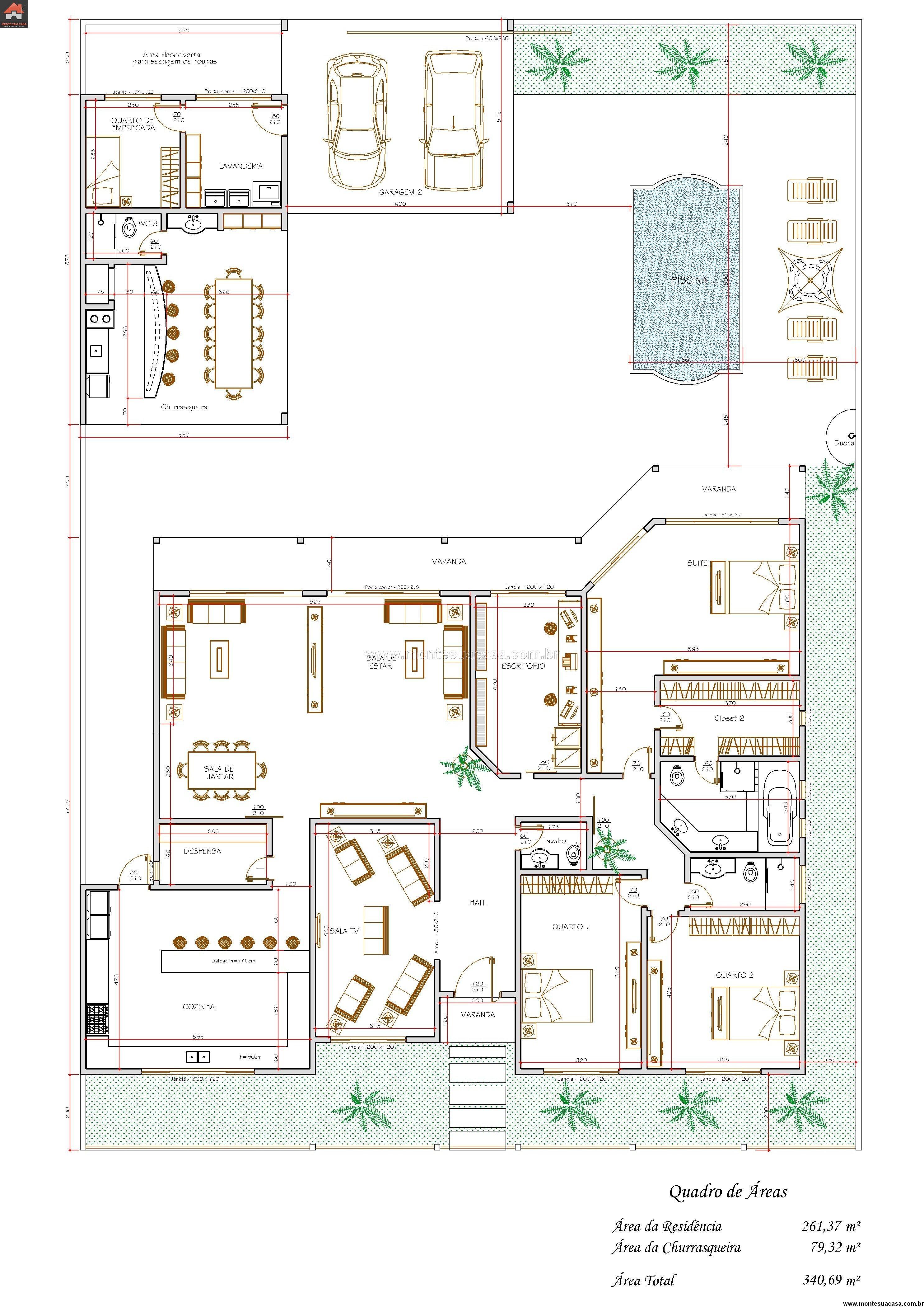 Casa 2 Quartos - 340.69m²