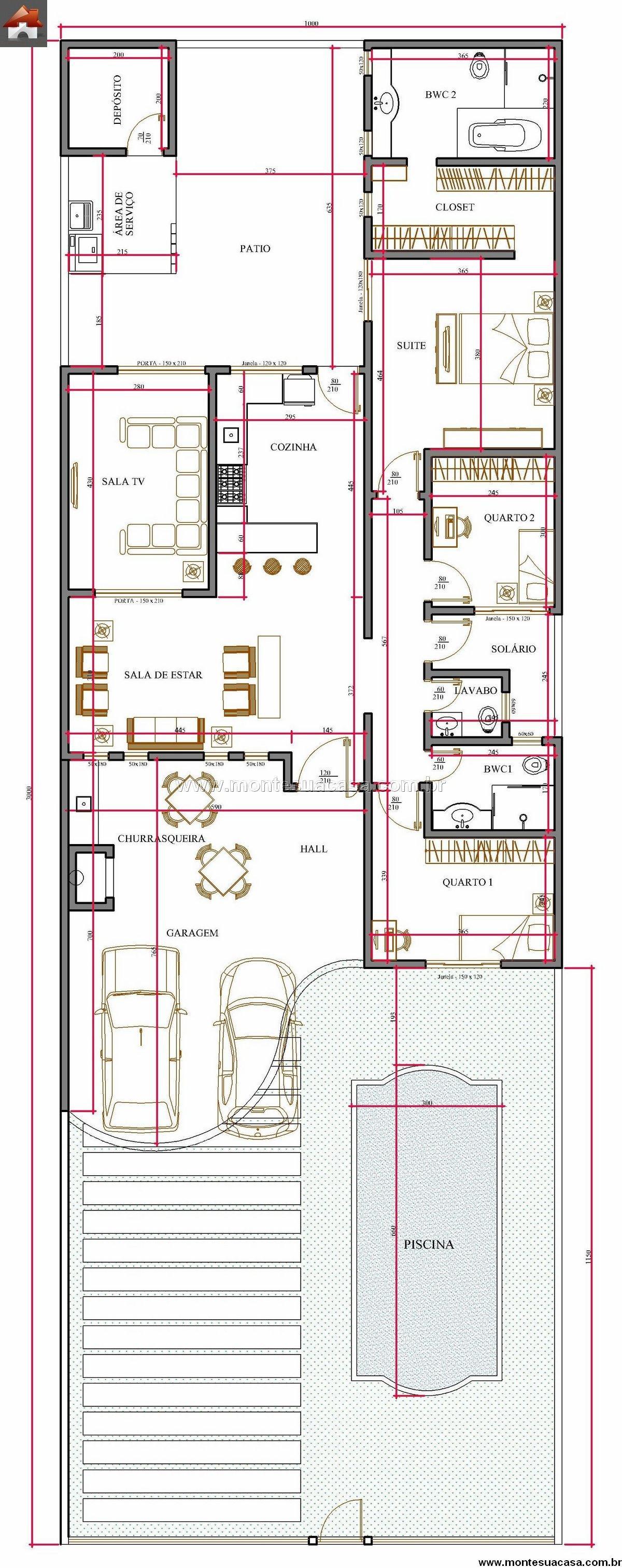 Casa 3 Quartos - 165.81m²