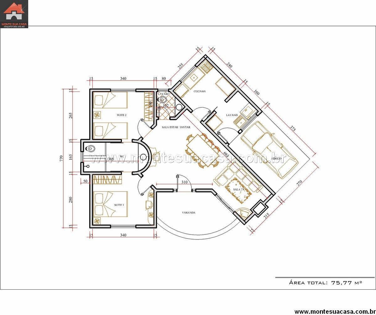 Casa 2 Quartos - 75.77m²