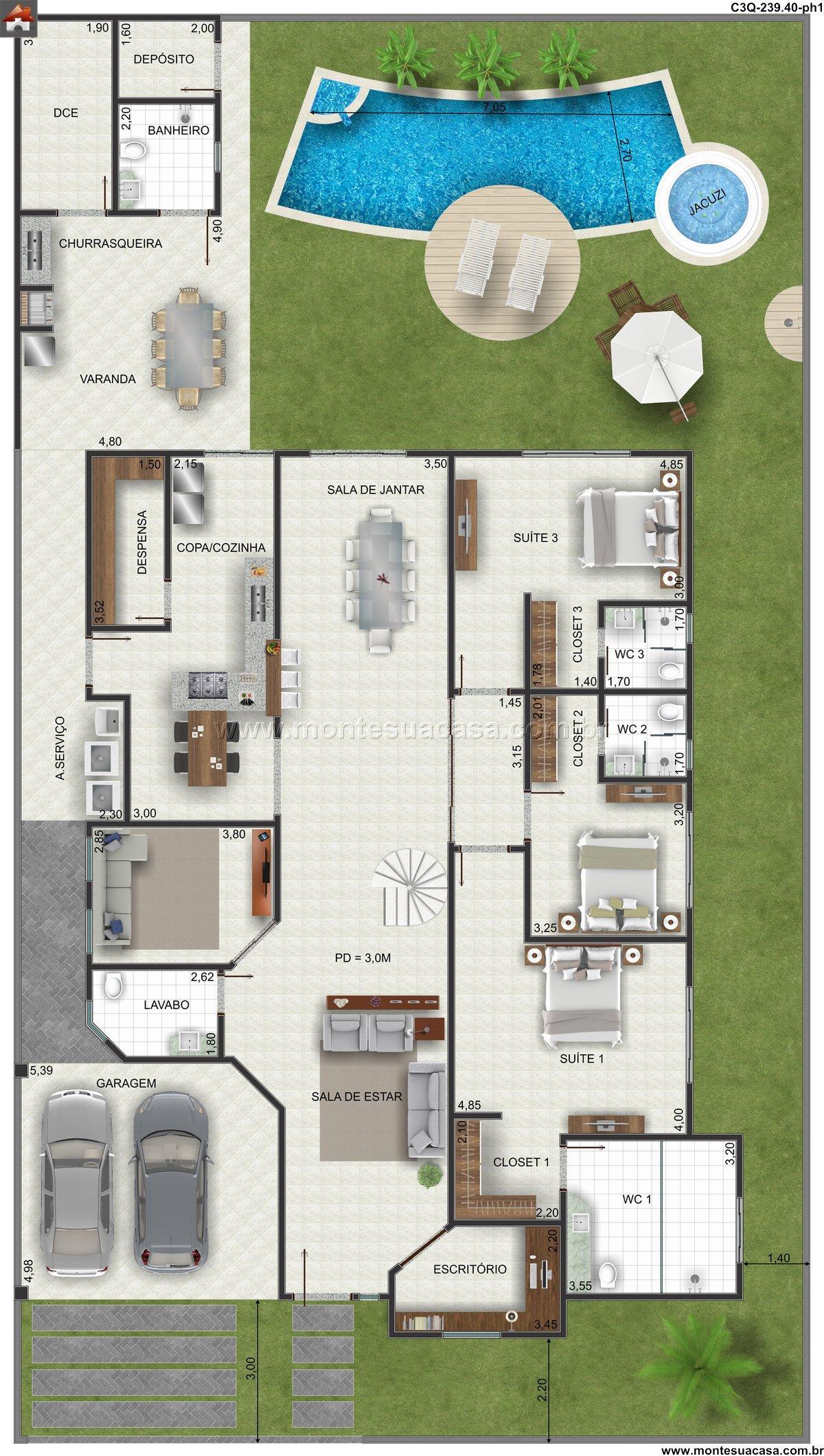 Casa 0 Quartos - 239.4m²