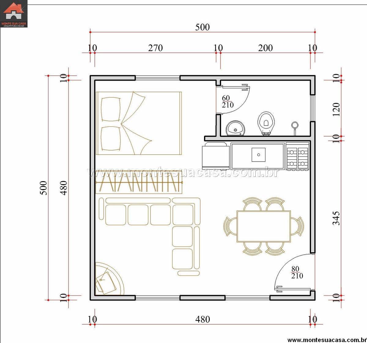 Casa 1 Quartos - 25m²