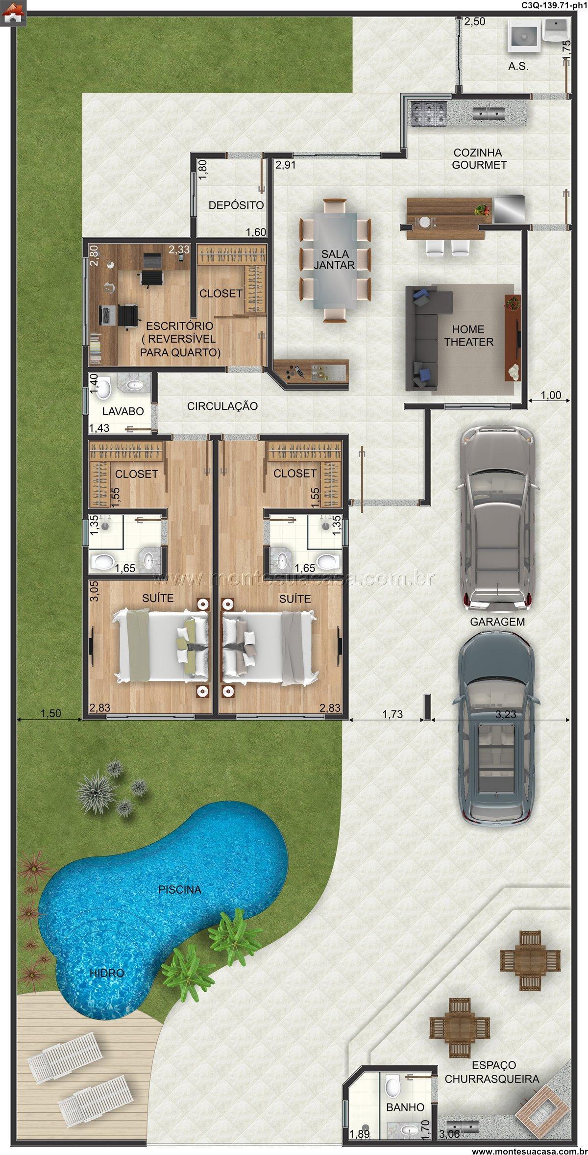 Casa 1 Quartos - 139.71m²